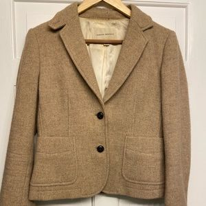 Brown Wool Banana Republic Blazer Sz 6